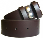 38mm Chocolate Snap Fit Leather Belt